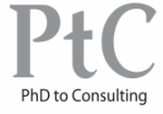 PhD to consulting logo